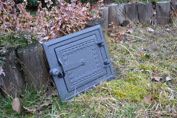 Cast Iron Chimney Clean Out Door : Cast iron fire door clay stove bread oven