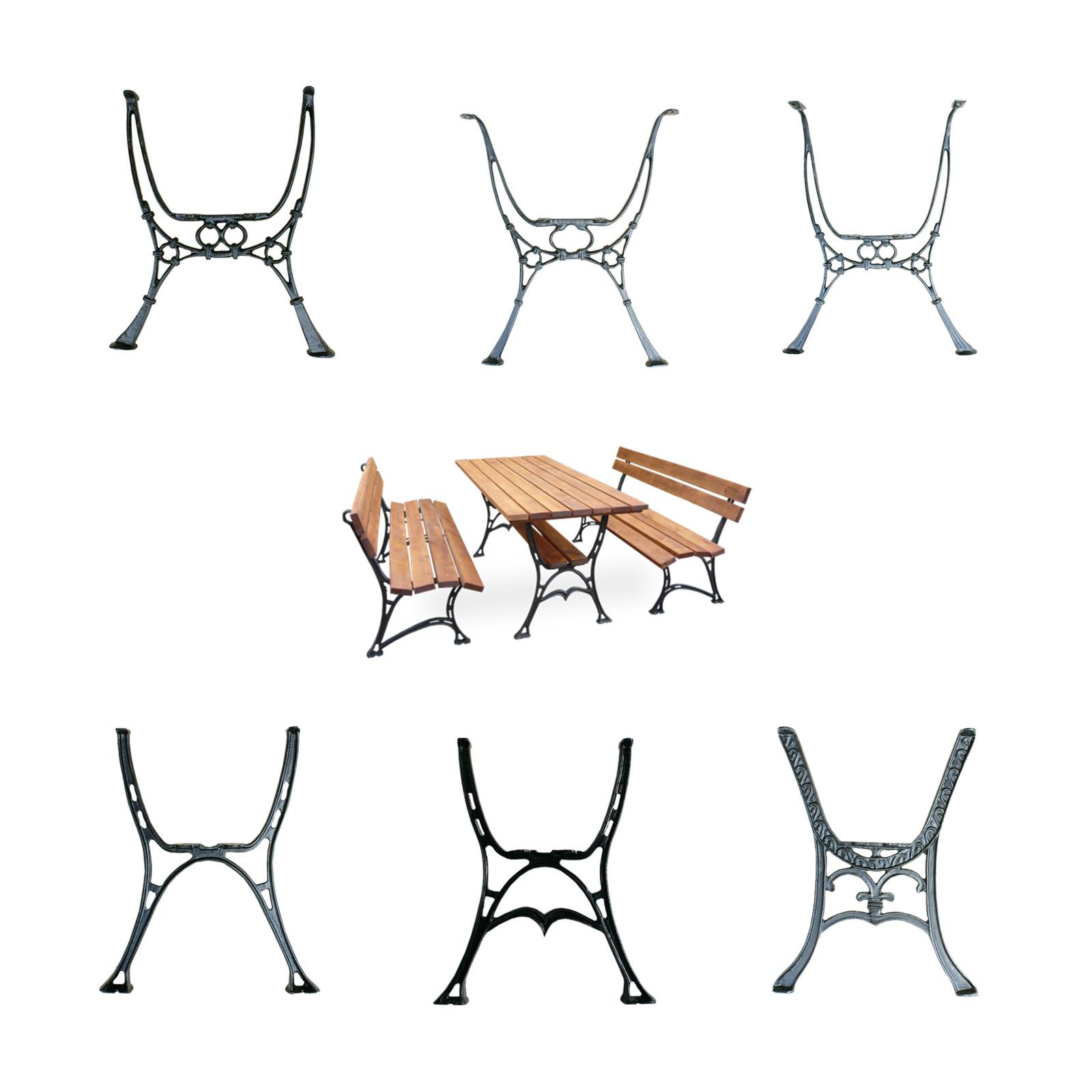 vintage cast iron table ends legs garden park patio balcony antique