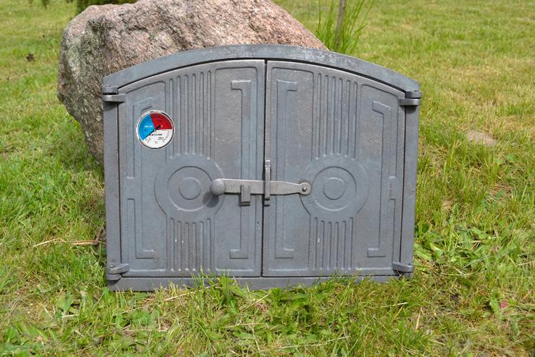 480 x 380mm natural thermometer cast iron fire door clay for Door 2 door pizza