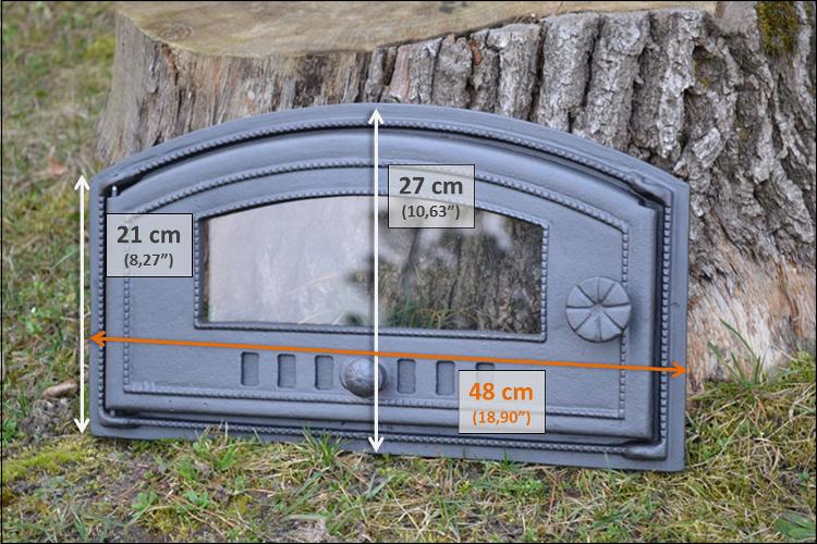 48 x 27cm cast iron fire door clay bread oven outdoor for Sportello per forno a legna